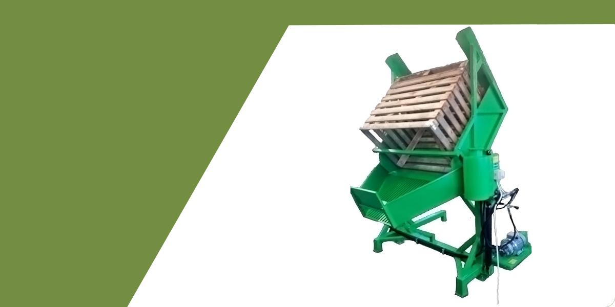 Zöld faládás konténerfordító